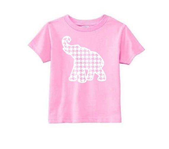 Alabama Shirt, Hounds Tooth Elephant, Roll Tide Toddler Shirt, Alabama Apparel, Kid's Roll Tide T, K #rolltidealabama