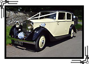 Vintage Rolls Royce Wedding Car Hire Peggy South Wales