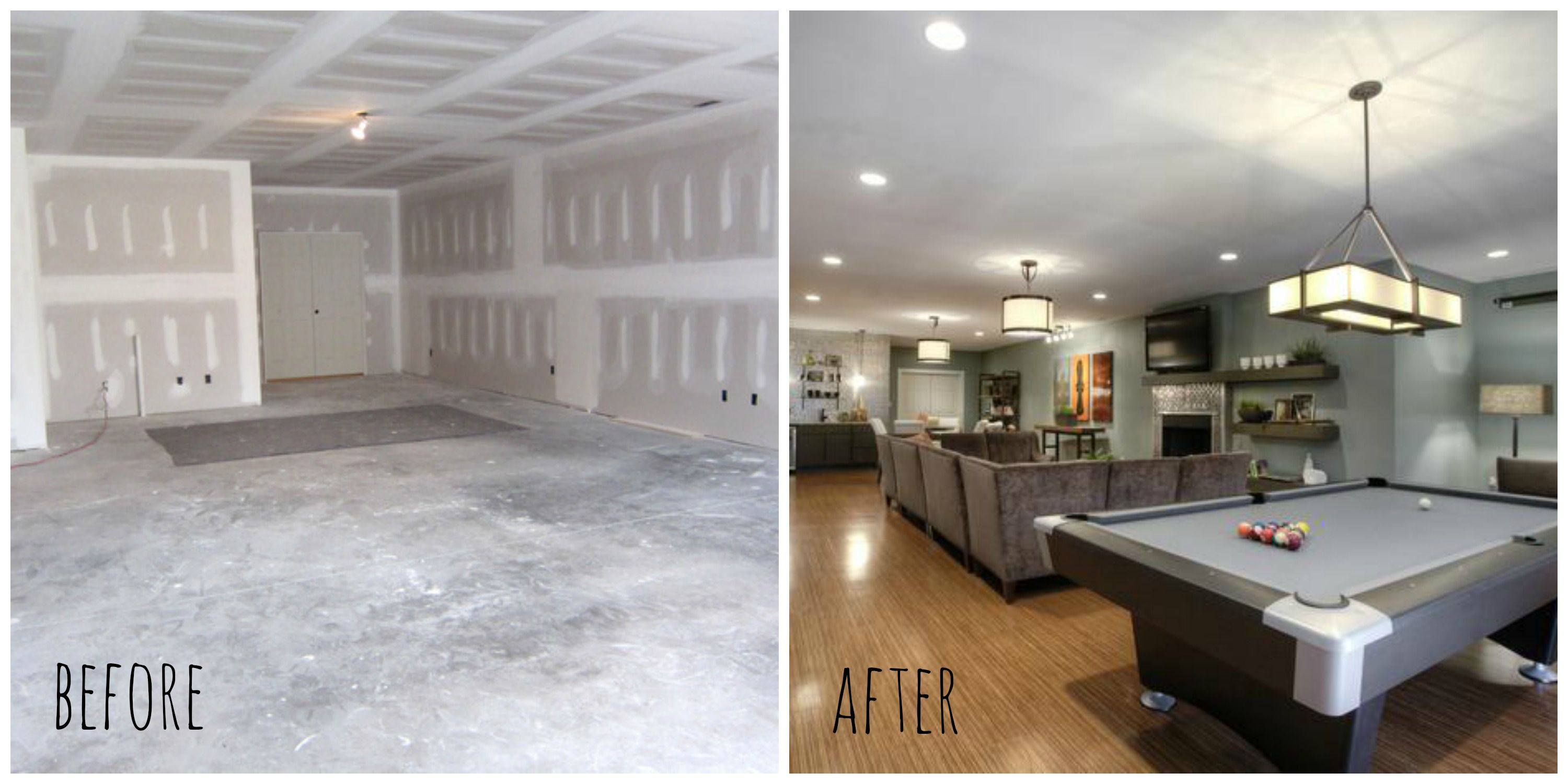Basement renovation before after before after Small bedroom renovation ideas