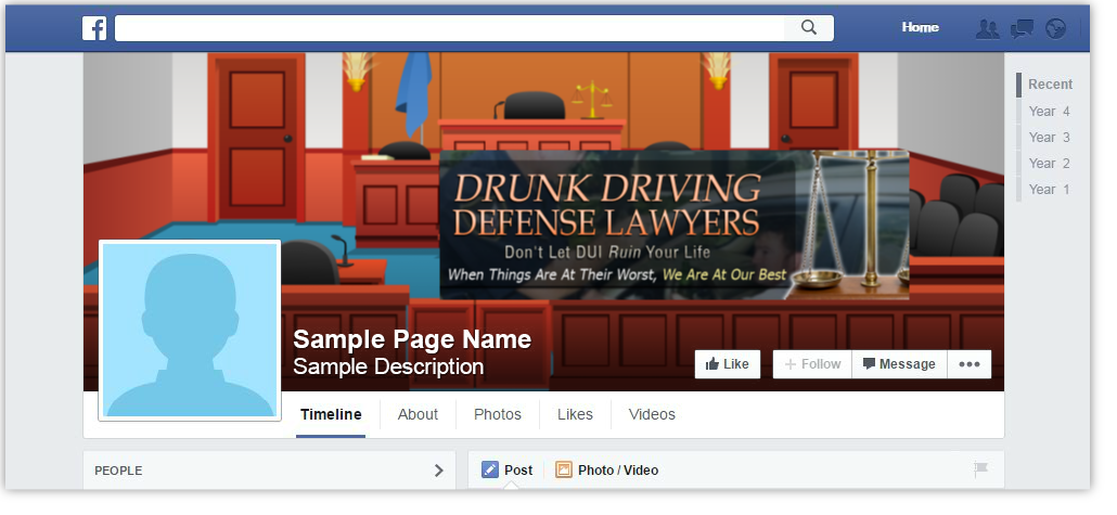 Dui Defense Lawyer Facebook Page Cover Design Browse Our Gallery