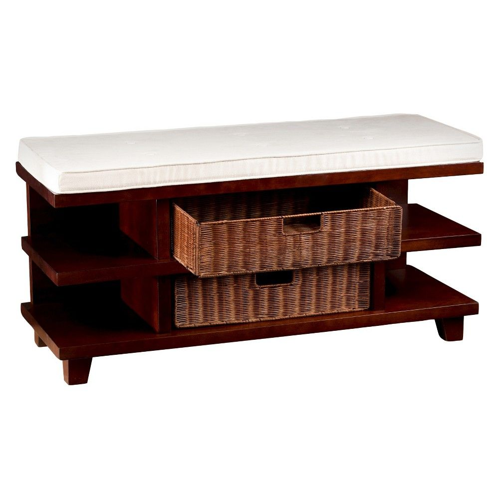 Winston Entry Bench With Storage Espresso With Caramel