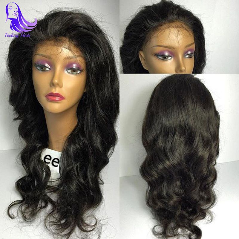 Lace Wigs Human Hair Lace Wigs Fine Short Human Hair Wigs With Bangs Brazilian Ocean Wave Remy Human Hair Wigs For Black Women