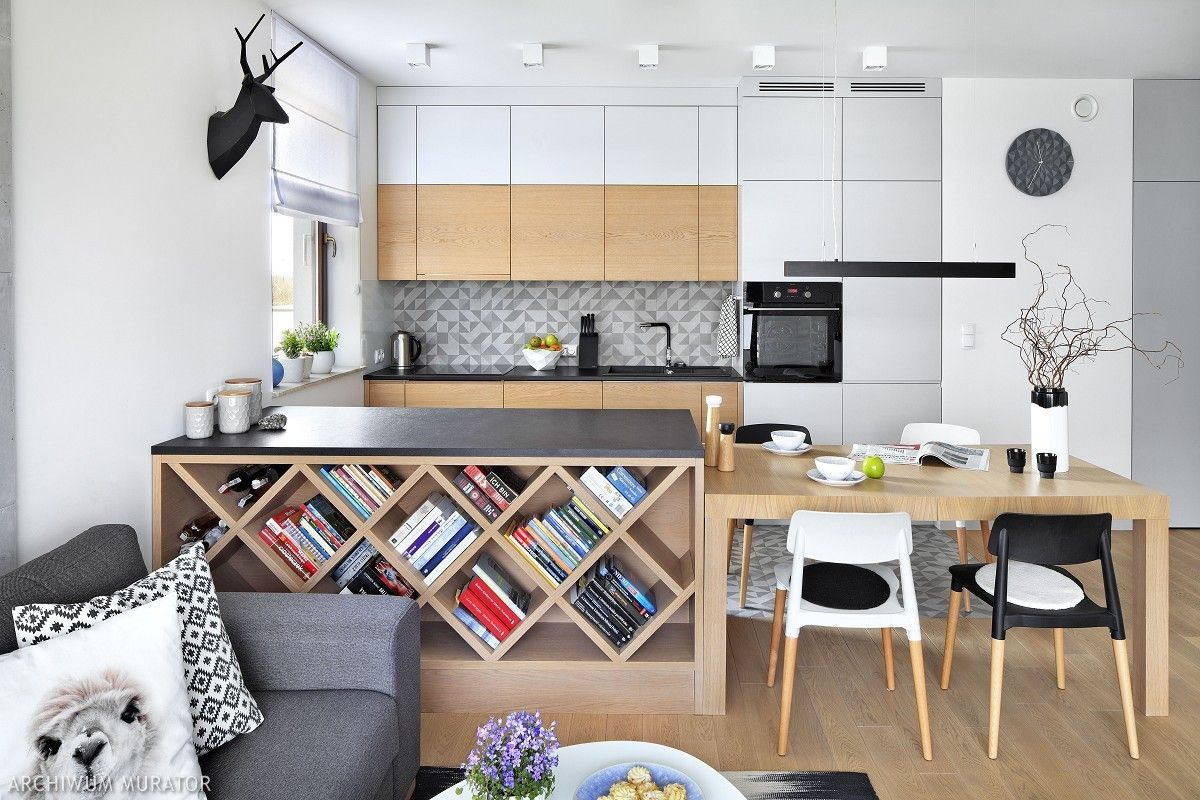 Wnetrza Kuchnia Lazienka Aranzacje Wnetrz Salon Small Apartment Interior Kitchen Interior Kitchen Design Small
