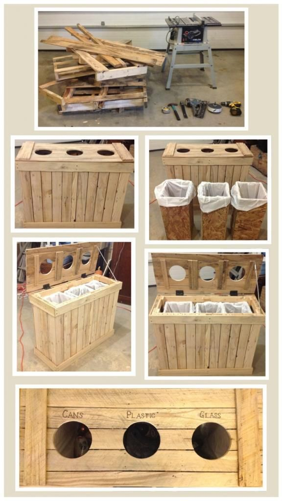 E1b3979eaf2f749118851767459374 Zpsc58a81e1 Indoor Recycling Separator Made From Wood Pallets