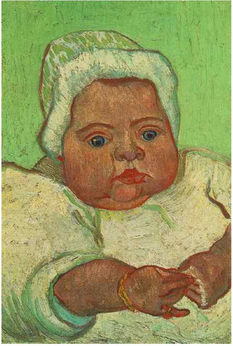 Vincent van Gogh Baby Marcelle Roulin, The Painting