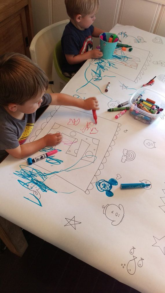Download Personalized kids coloring paper tablecloth! Giant paper placemat for kids to color! Totally ...