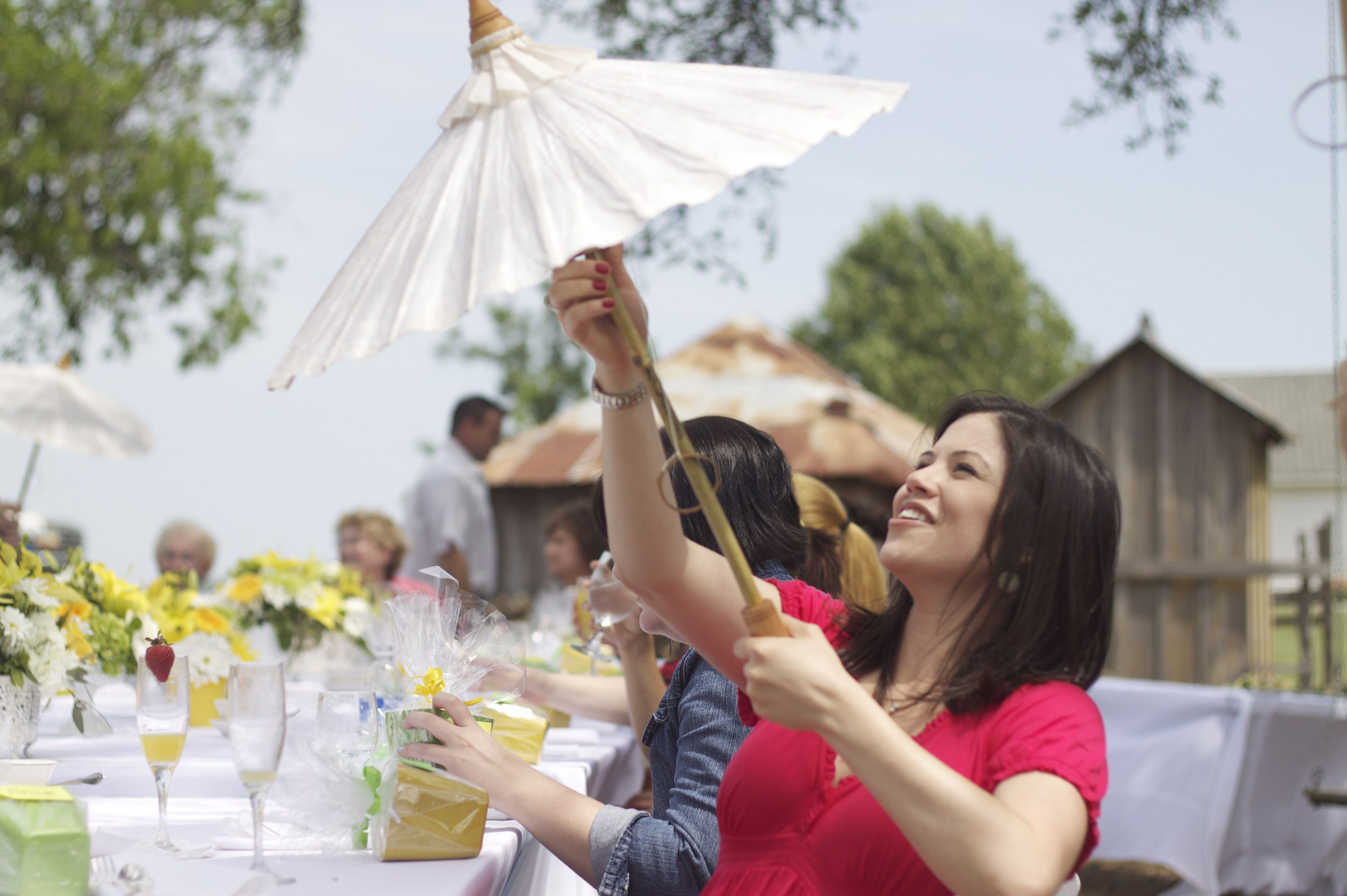 The parasols were adorable!