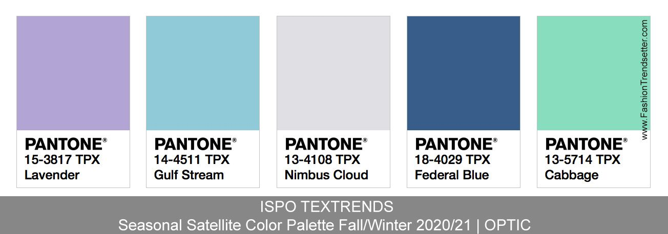 Fall Season 2020.Ispo Textrends Color Trends Fall Winter 2020 21 Color