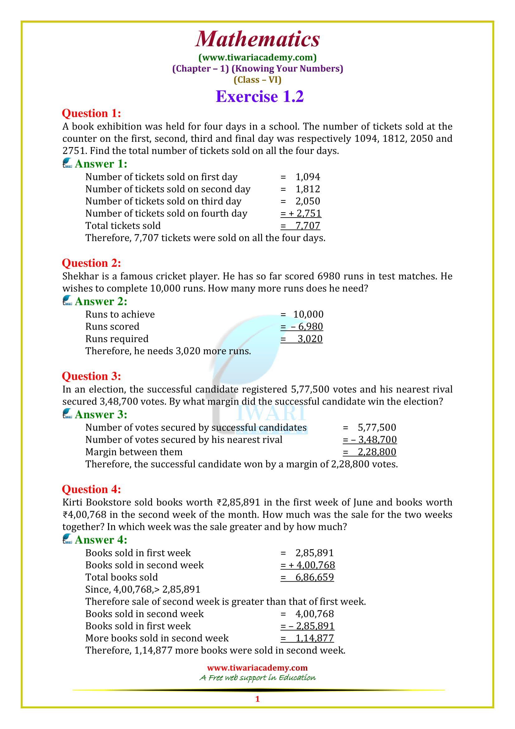 Class 6 Maths Class 6 Maths Math Textbook Mathematics Worksheets [ 2339 x 1653 Pixel ]