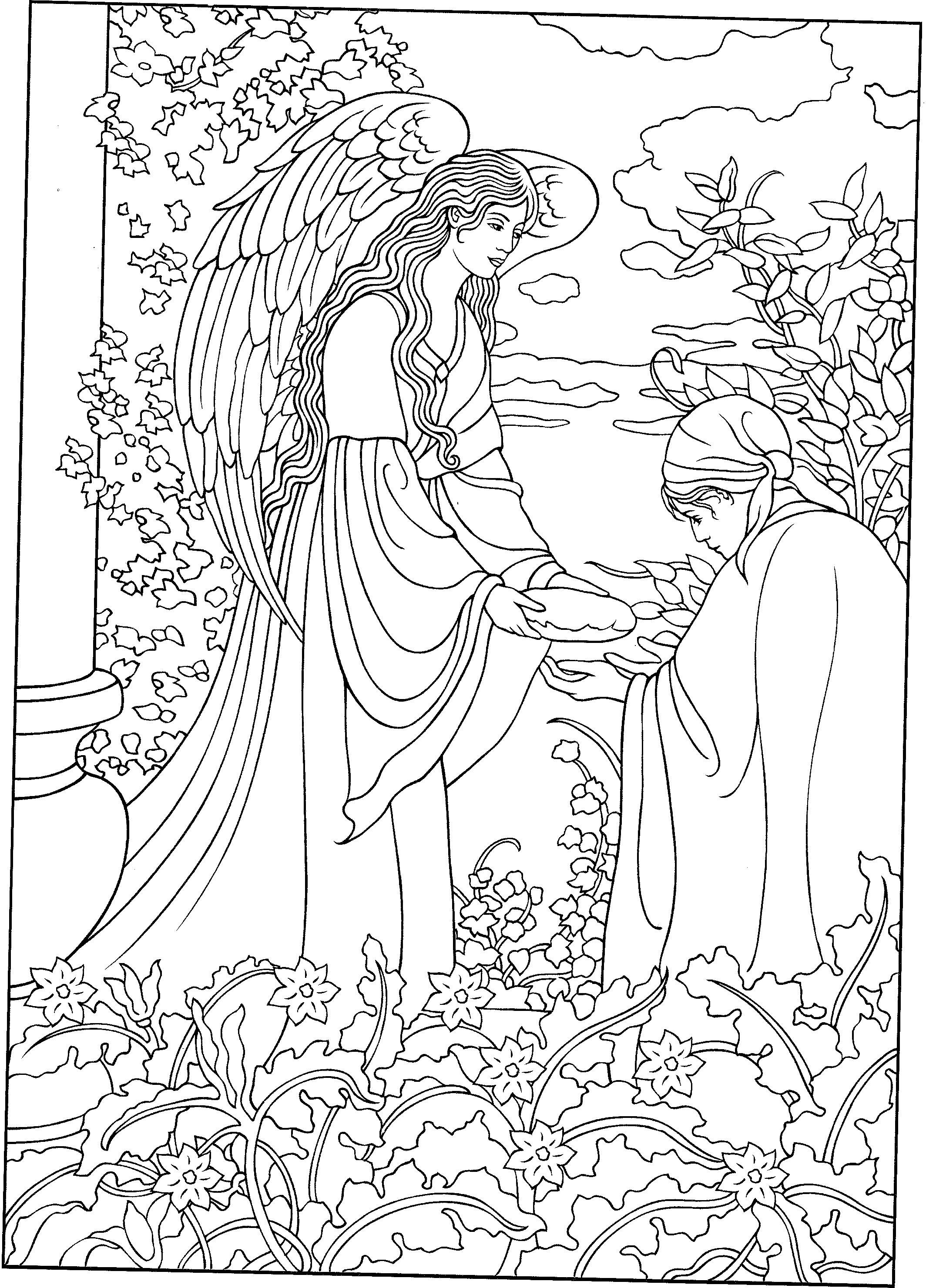 coloring book pages angels - photo#44