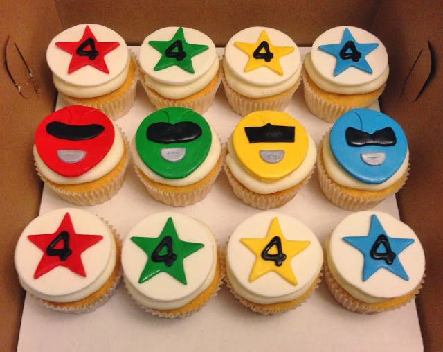 Power Ranger Cupcakes With Images Power Rangers Birthday Cake