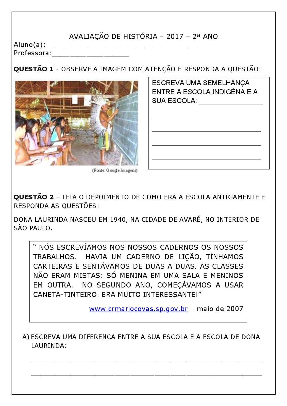Atividades Pedagogica Suzano Avaliacao De Geografia Atividades
