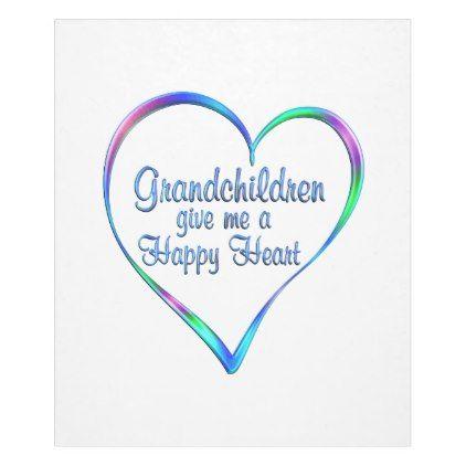#Grandchildren Happy Heart Fleece Blanket - #giftidea #giftideas #gifts for #grandpa & #grandma #grandparents