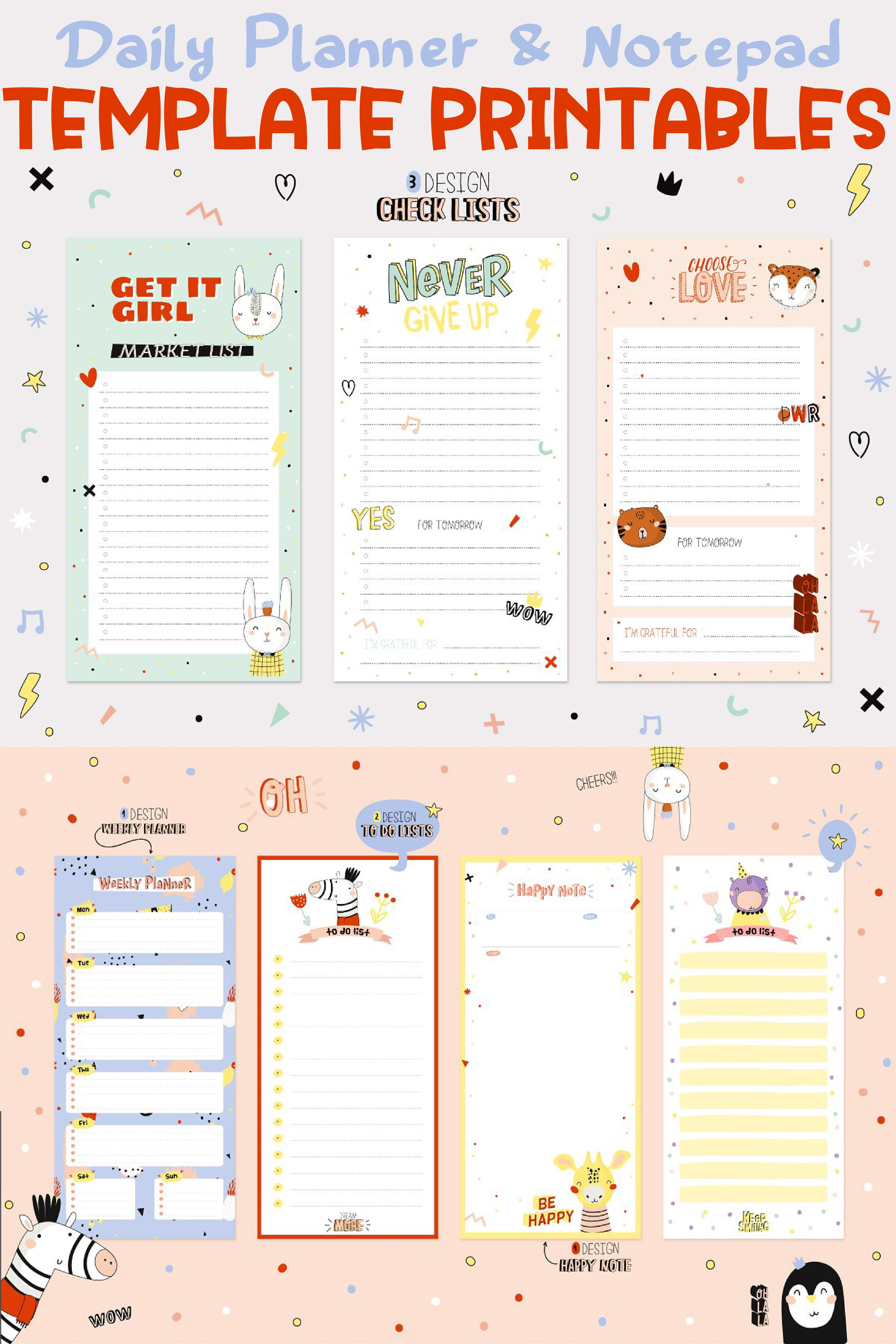 Agenda Planner Printables Free Printable Planner Pages Daily Planner Printable