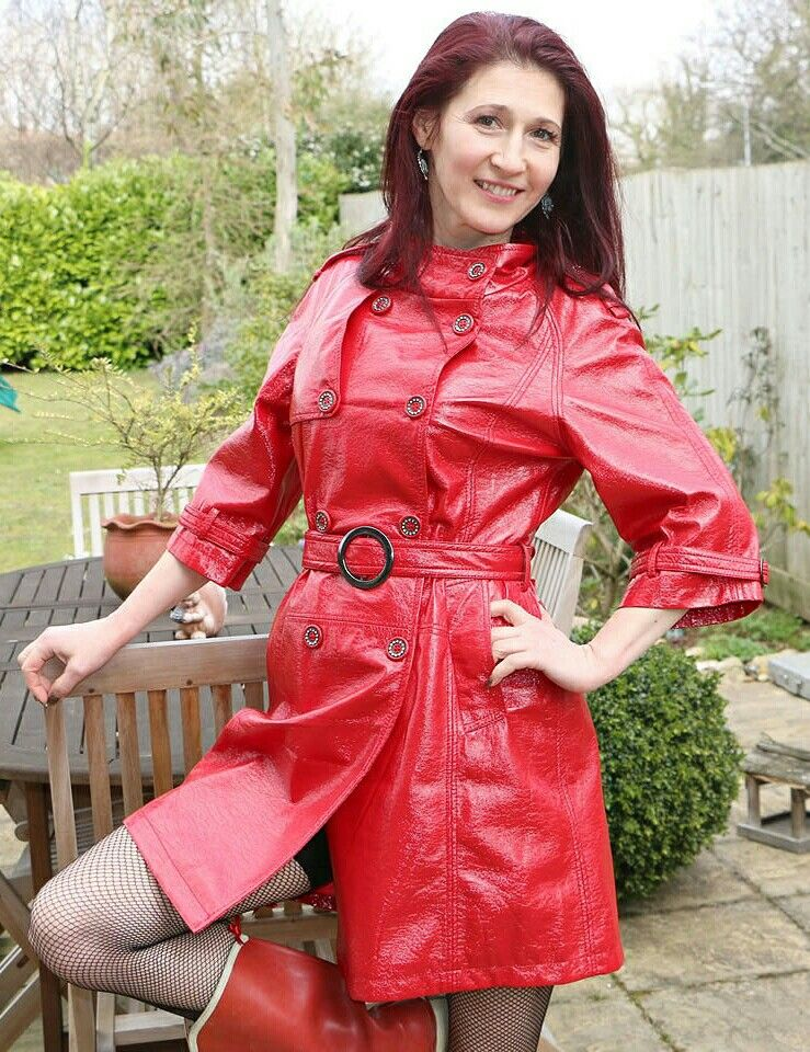 Pin on Red Raincoats & Jackets