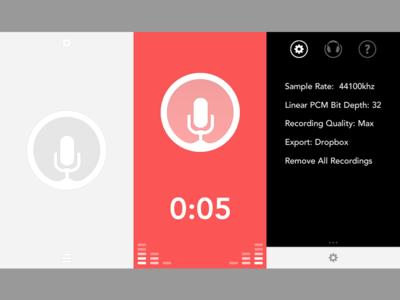 Recording App Redsign