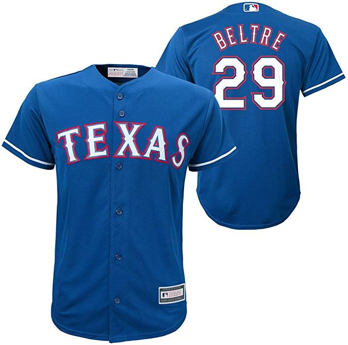 4d5a0fae692 Amazon.com  Outerstuff Adrian Beltre Texas Rangers Blue  29 Youth Cool Base  Alternate Replica Jersey (Medium 10 12)  Clothing
