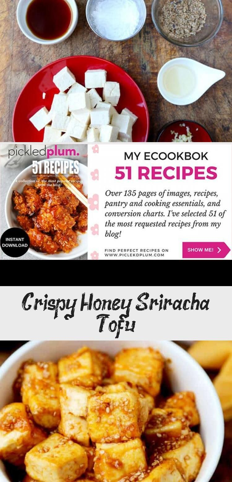 One of my favorite tofu recipes of all time Tofu cubes coated with corn starch and pan fried until crispy Then tossed in a spicy and sweet honey sriracha sauce Healthy an...
