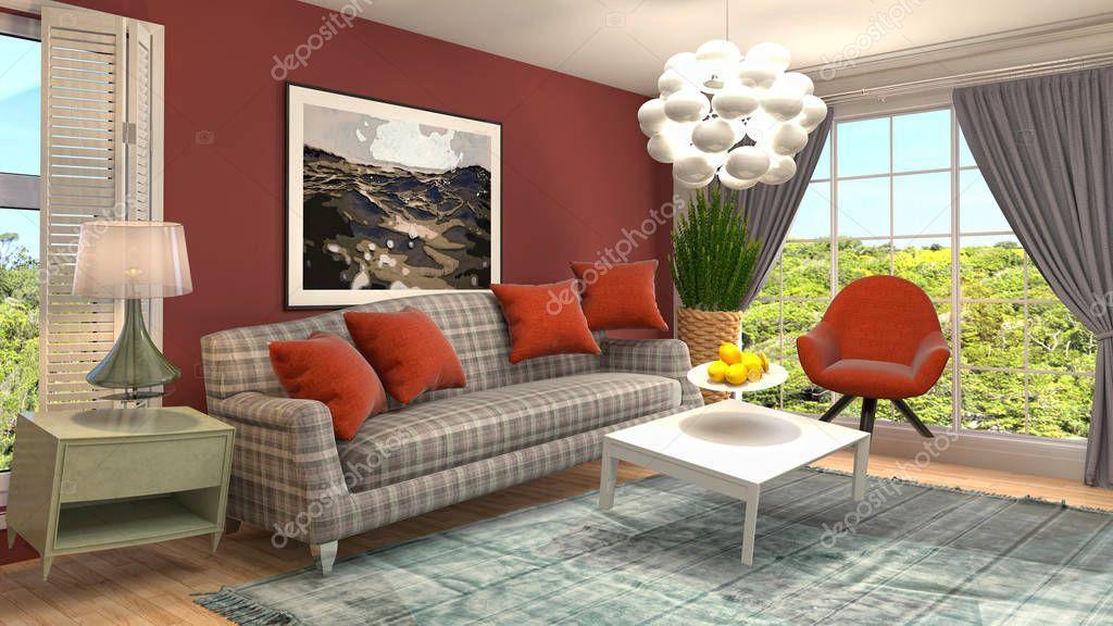 Zero Gravity Sofa Hovering In Living