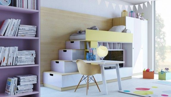 Room · colorful kids room designs with plenty of storage space