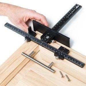 Cabinet Door Handle Drill Jig