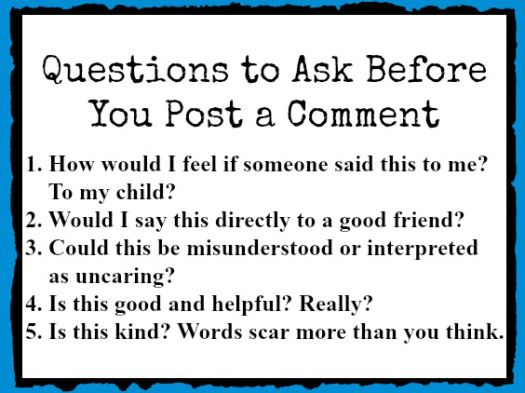 Questions to Ask Before You Leave a Comment