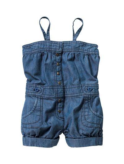f7f00f82d33822 Combi-short en jean souple bébé fille DENIM DOUBLE STONE ...