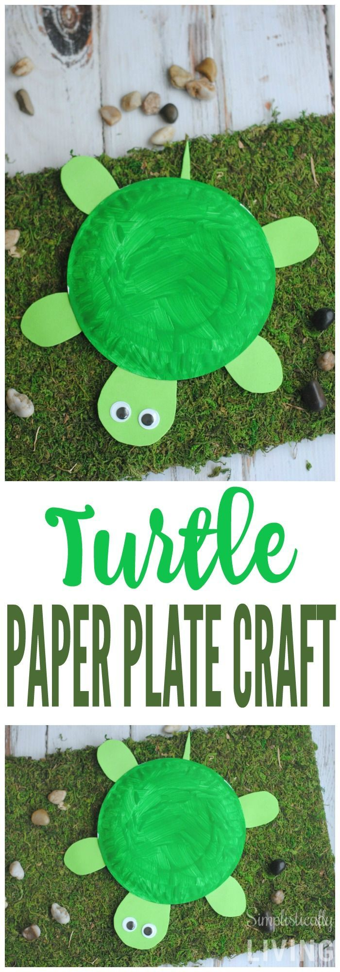DIY Turtle Paper Plate Simplistically Living More & DIY Turtle Paper Plate | Pinterest | Turtle Craft and Paper plate ...
