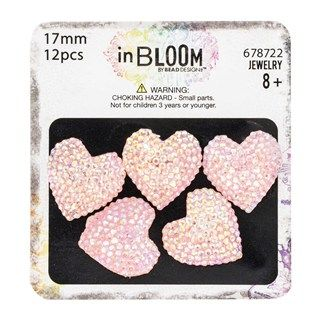 In Bloom by Bead Design Co. 17mm Heart-Shaped Pink Frosted Resin Stones | Shop Hobby Lobby