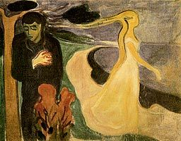 One of my my favorite theme's! Separation, 1900 - Edvard Munch.