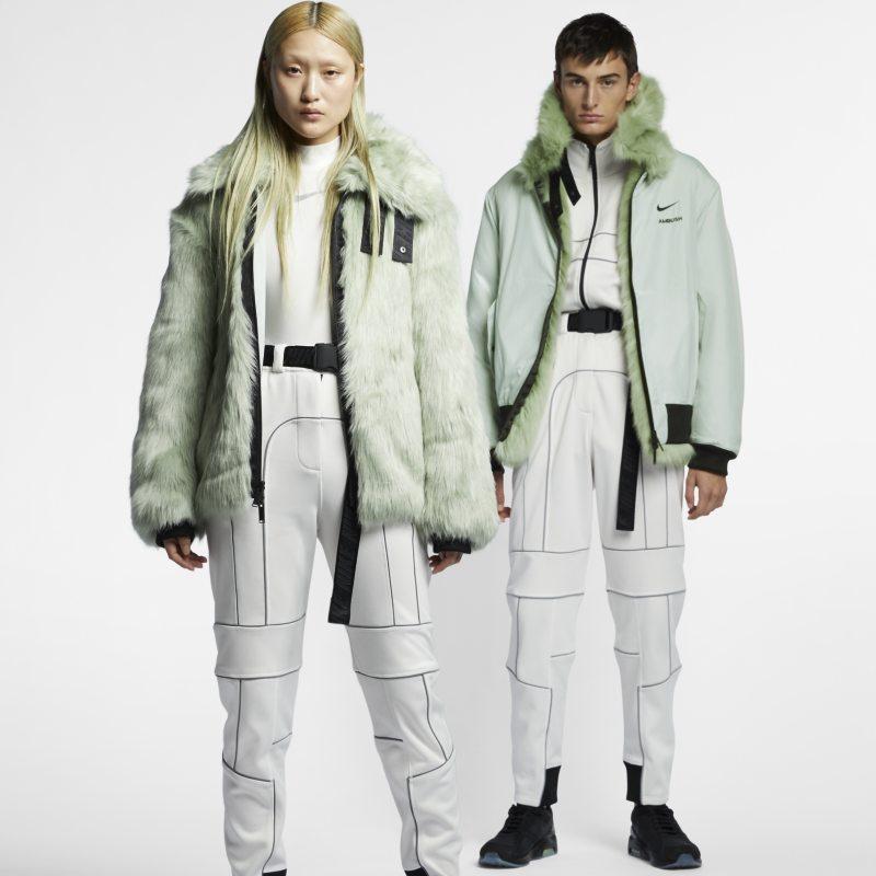 En honor Por ley Puerto  Nike x Ambush Women's Reversible Faux-Fur Coat - Green ...