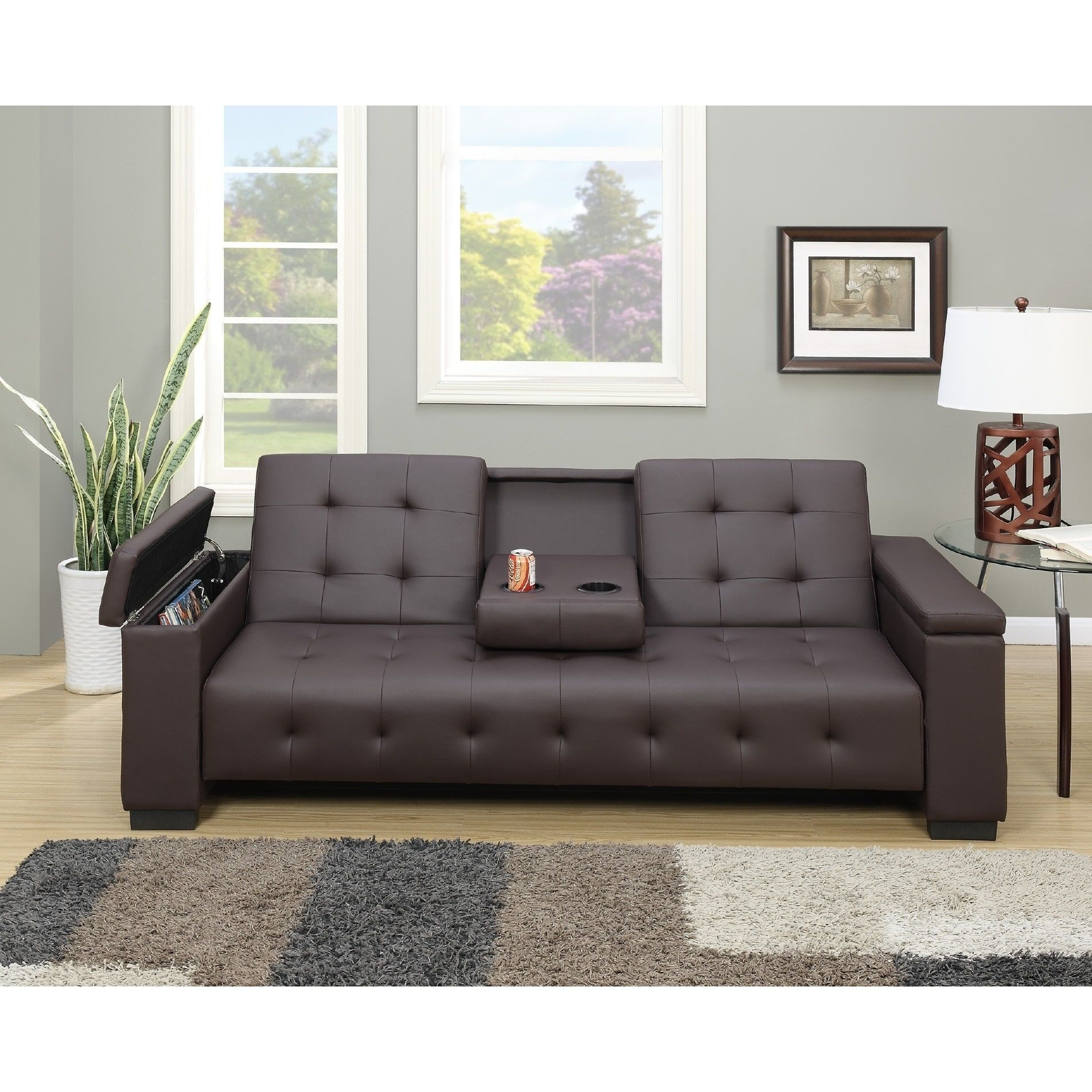 Sectional Sofas Cortez Adjustable Storage Sleeper Sofa
