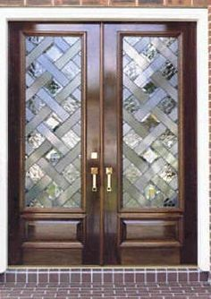 glass double front door. Solid Mahogany Exterior Front Double Door Prehung Finished ENTRY . Glass P