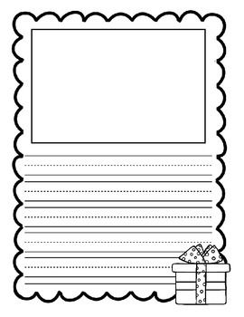 christmas writing paper freebie