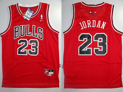 Nba swingman jersey  michael jordan   23  bulls basketball  retro nike red s d6a395a49