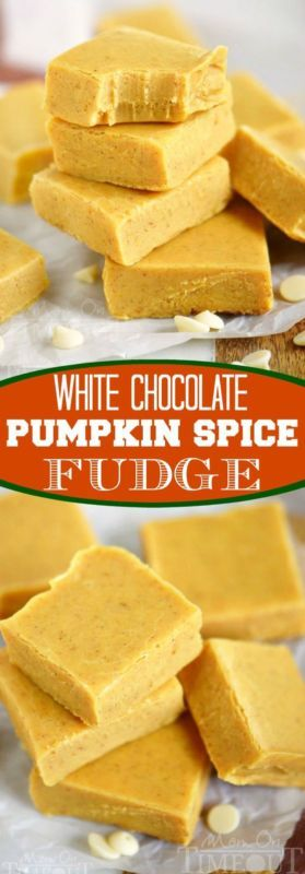 White-Chocolate-Pumpkin-Spice-Fudge- #coolelectronics