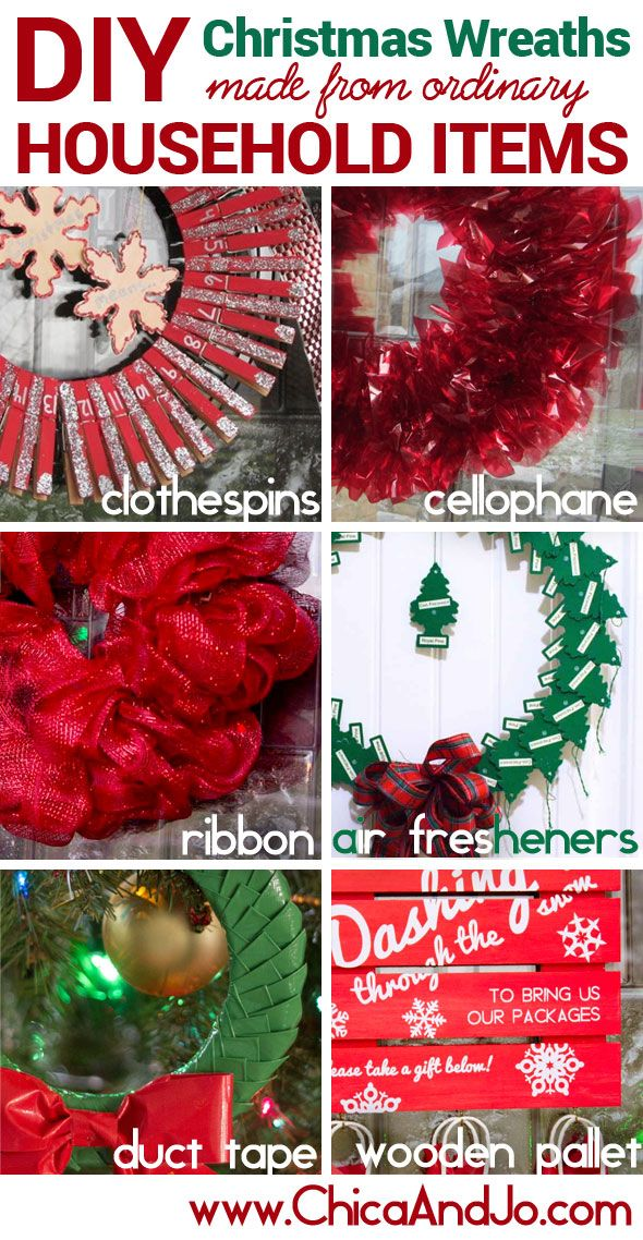 Transform Ordinary Household Items Into Unique And Decorative Christmas Wreaths Christmas Wreaths Diy Christmas Wreaths Christmas Crafts Decorations