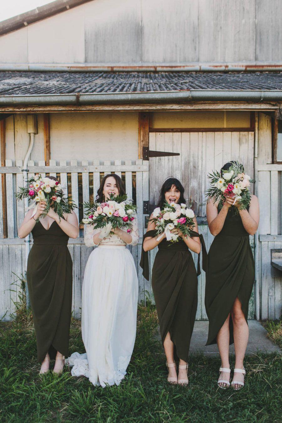 Soraya Blake S Bohemian Backyard Wedding Nouba Com Au Fall Bridesmaid Dresses Wedding Bridesmaid Dresses Green Bridesmaid Dresses