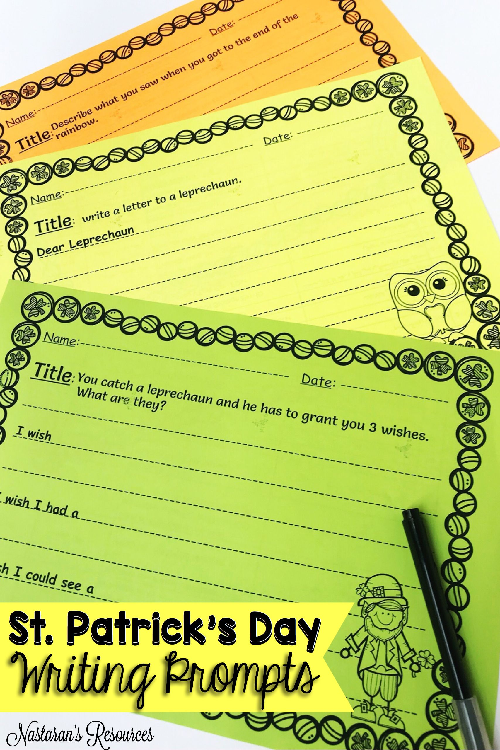 St Patrick S Day Writing Prompts