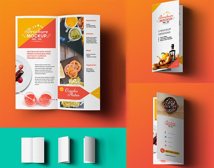 Freebifoldbrochuremockup Mockups Pinterest Mockup And - Two fold brochure template free