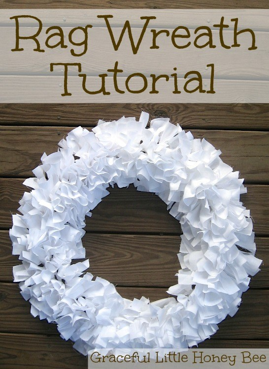 Photo of DIY Farmhouse Style Rag Wreath Tutorial + Video