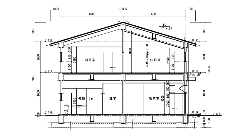 Rc造2階step製図講座 Rc造 製図 建築材料