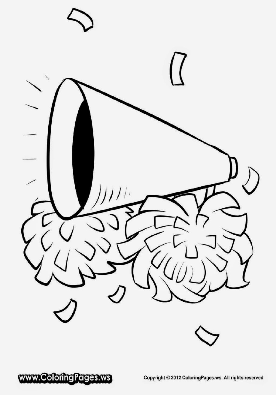 Cheer Coloring Pages Cheer Posters Cheerleading Crafts Cheer