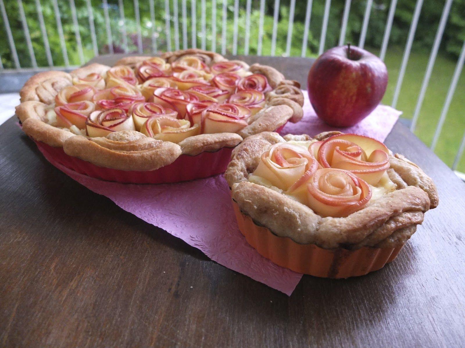Ich glaube, diese hier  war die erste Apfel-Rosen-Tarte, die ich entdeckt habe, und es war sofort klar, dass ich die bei Gelegenheit backen ...