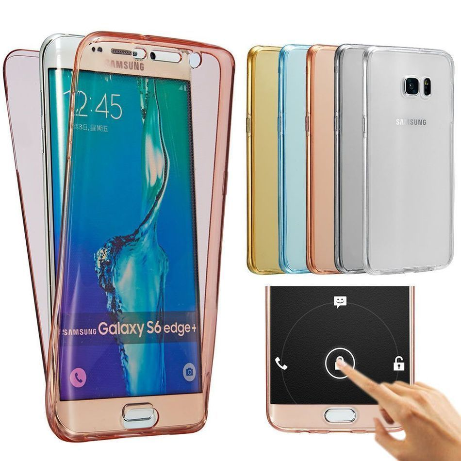 5f2f903af7c 360 Full Body Couverture TPU Cas De Silicium Pour Samsung Galaxy A3 A5 A7  J1 J3 J5 J7 2016 2017 Pro S8 Plus S6 S7 Bord Grand-Premier Cas