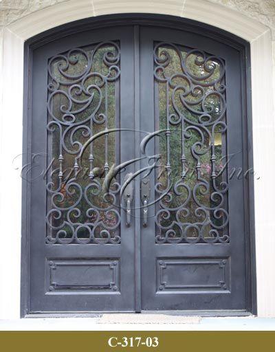 View Wrought Iron Entry Doors, Wine Doors, Railings - Elegante Iron ...
