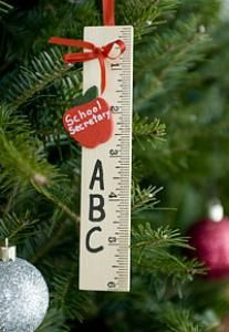 Personalized Ruler Ornament - Show your teacher appreciation with this thoughtful teacher gift! LoveToTeach.com