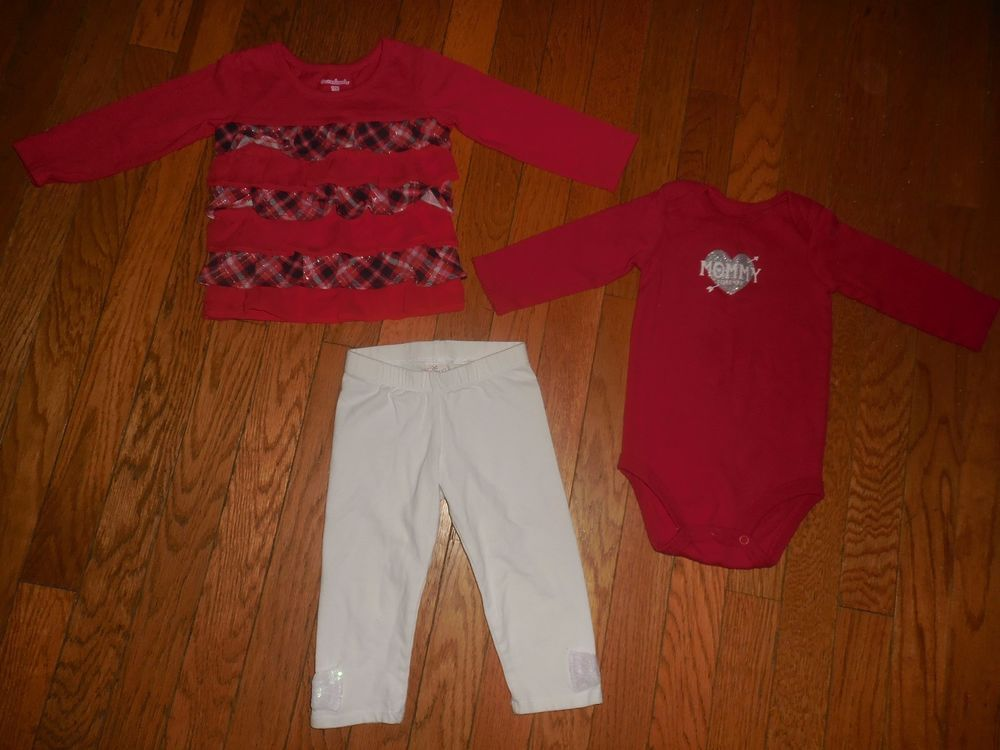 Baby Girl Clothes Size 12 Months Red White Lot 12 Months Babies