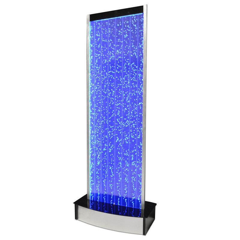 Large Floor Standing LED Bubble Wall Indoor Fountain Water Feature ...