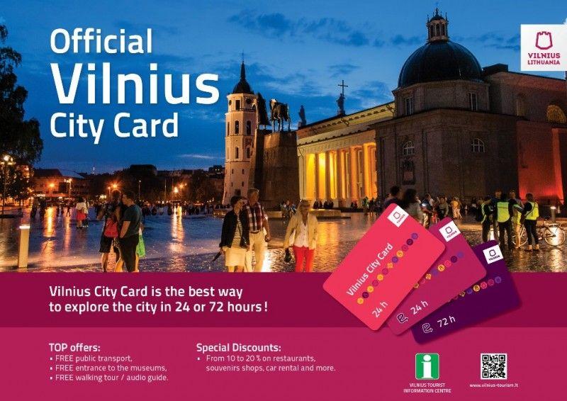 Vilnius City Card Guests Visiting Vilnius Can Already Enjoy The Advantages Of Vilnius City Card 2015 Annually Updat Tourism Services Tourism Website Tourism